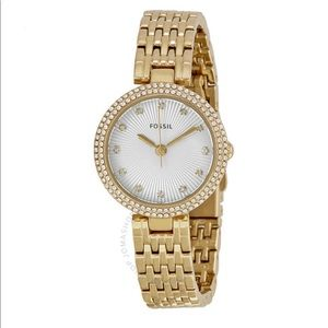 Fossil Women's Olive Gold-tone Watch ES3346